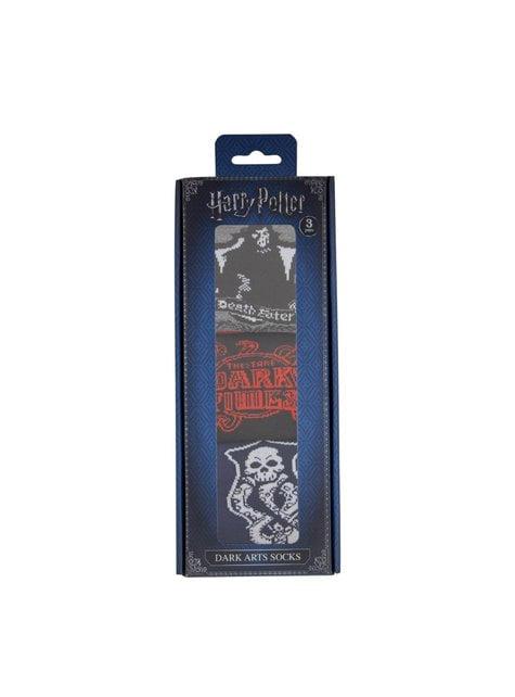 Balení 3 párů ponožek Harry Potter Temná umění