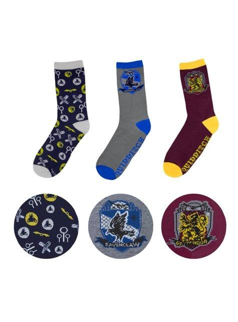 Balení 3 párů ponožek Harry Potter Zlatonka