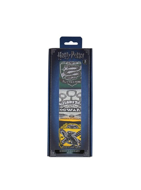 Balení 3 párů ponožek Famfrpál Bradavice Harry Potter