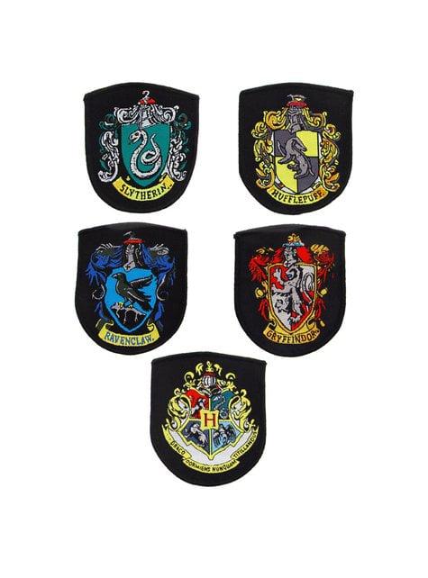 Pack de 5 parches Casas Hogwarts - Harry Potter