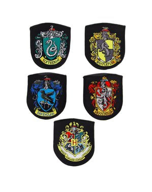 Pakke med 5 Hogwarts Hus lapper - Harry Potter
