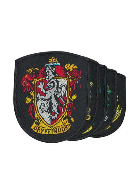 Pack de 5 parches Casas Hogwarts - Harry Potter - productos oficiales para fans