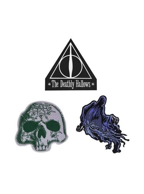 3-teiliges Aufnäher Set aus Harry Potter und die Heiligtümer des Todes - Harry Potter