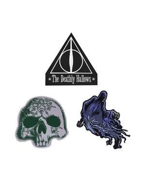 Sada 3 nášivek Relikvie Smrti - Harry Potter
