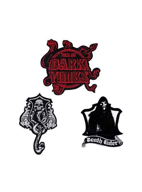 Balení 3 párů nášivek Harry Potter Temná umění