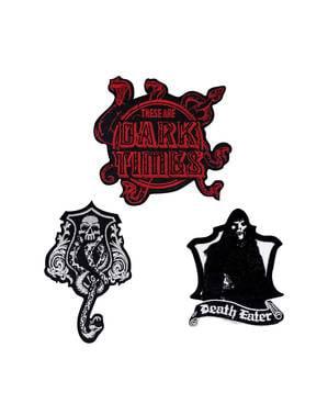 Driepak verpakking Harry Potter donkere kunst patches
