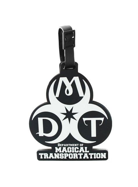 Étiquette bagage Les Animaux fantastiques Département des transports magiques