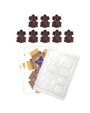 Foremki żaby z czekolady z opakowaniami - Harry Potter