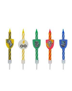 10 db Harry Potter születésnapi gyertya - Hogwarts Houses