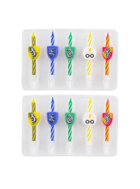 10 velas cumpleaños Harry Potter - Hogwarts Houses - para tus fiestas