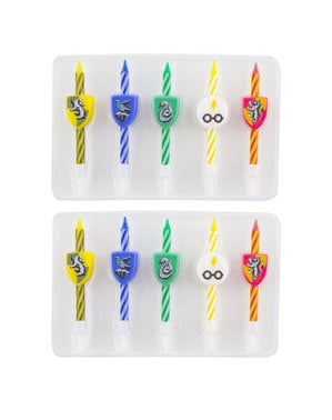 10 Harry Potter birthday candles - Hogwarts Houses