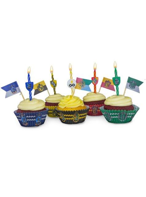 10 velas cumpleaños Harry Potter - Hogwarts Houses - barato