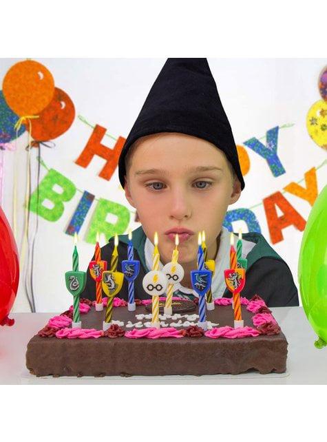 10 velas cumpleaños Harry Potter - Hogwarts Houses - comprar