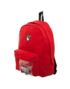 Red Harley Quinn backpack