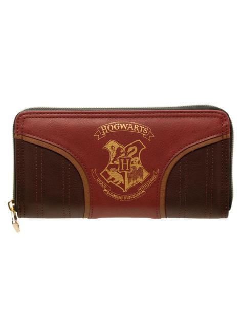 Porta-moedas de Hogwarts castanho para mulher
