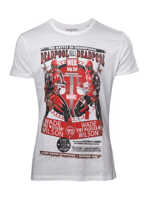 Valkoinen Deadpool-t-paita