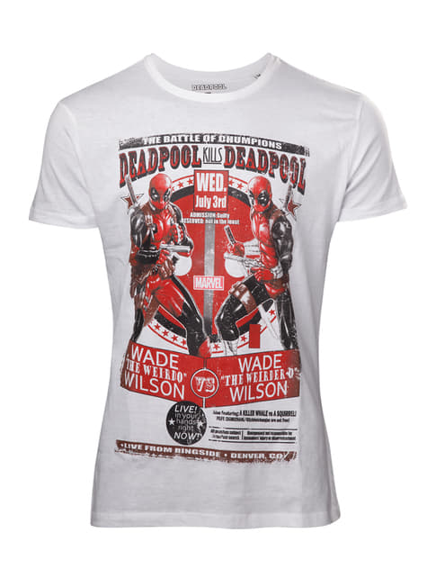 White Deadpool t-shirt