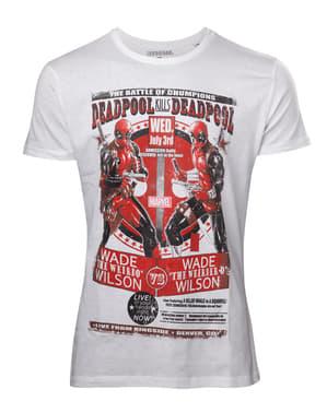 Hvit Deadpool t-skjorte