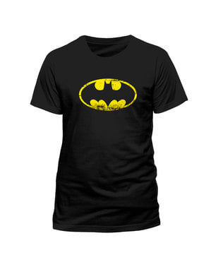 Kulutettu Batman-logo-t-paita