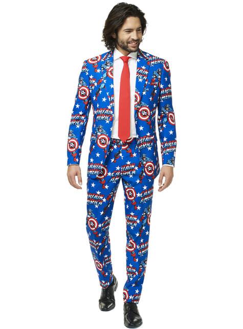 Traje Capitán América Opposuit para hombre