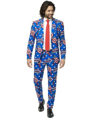 Капитан Америка Опос костюм за мъже