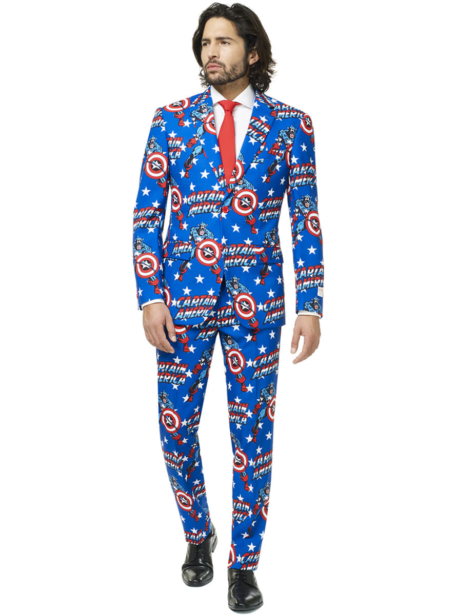 Captain America Opposuit suit for men. Fast delivery . ce55ae0eda5
