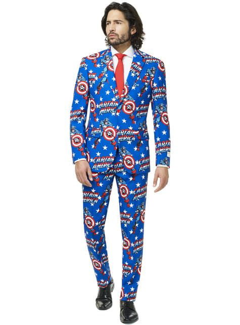 Traje Capitán América Opposuit para hombre - hombre