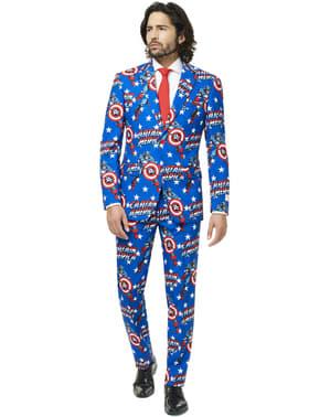 男性のためのキャプテンアメリカオポスーツスーツ
