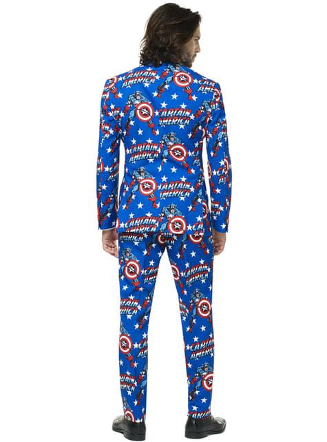 Traje Capitán América Opposuit para hombre - traje