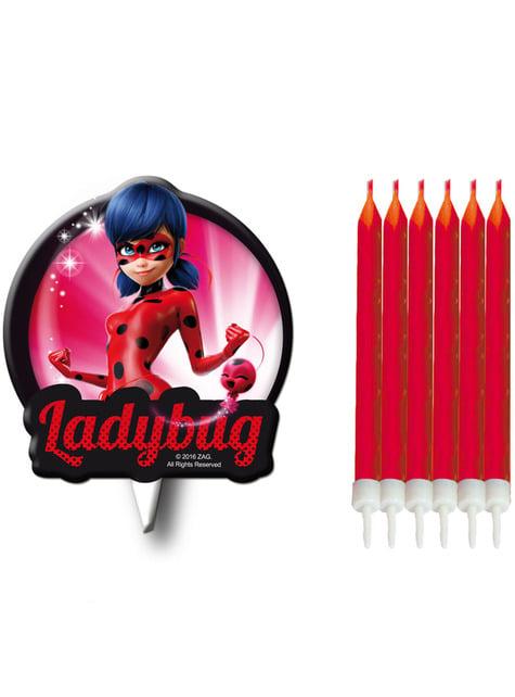 6 velas de Ladybug - Miraculous
