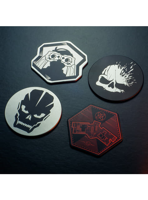 Set de 4 Posavasos Call of Duty - oficial