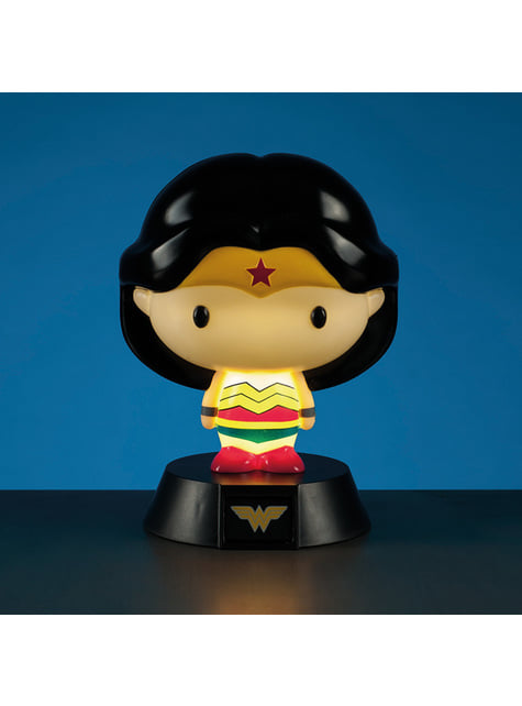 Figura 3D com luz de Wonder Woman 10 cm