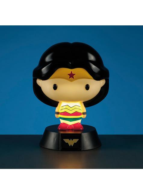 Figura 3D con luz de Wonder Woman 10 cm - oficial