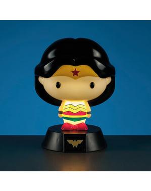 Figura 3D con luce di Wonder Woman 10 cm