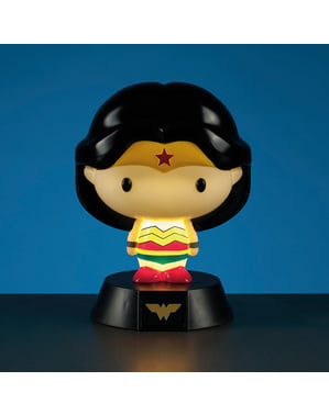 Figura 3D con luz de Wonder Woman 10 cm