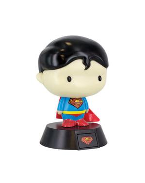 Figura 3D con luce di Superman 10 cm