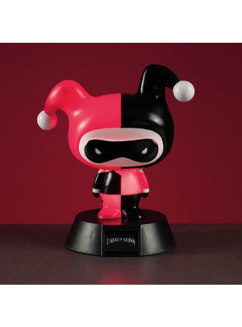 Figura 3D con luz de Harley Quinn 10 cm - oficial