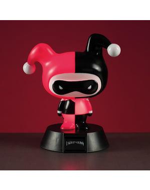 Figura 3D con luce di Harley Quinn 10 cm