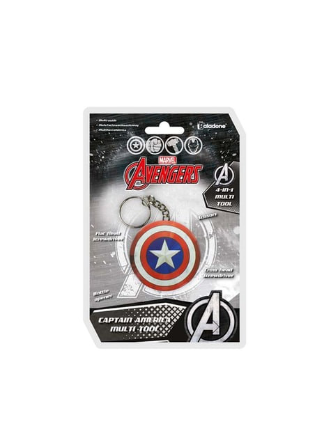 Llavero multiusos escudo Capitán América