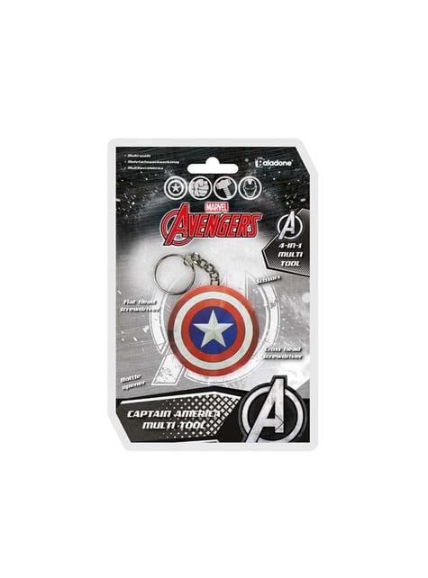 Porta-chaves multiusos escudo Capitão América