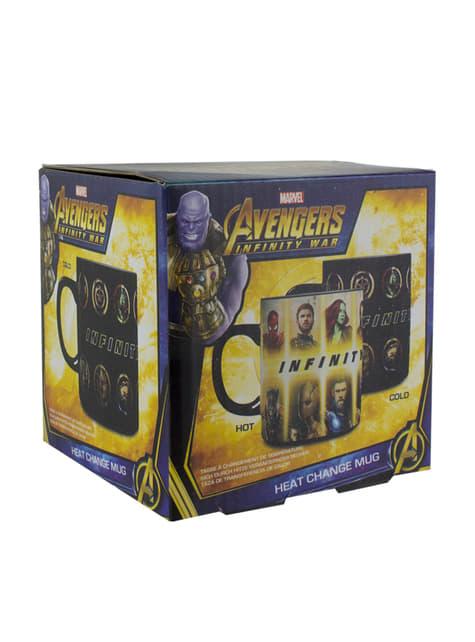 Caneca muda de cor - Os Vingadores: Infinity War