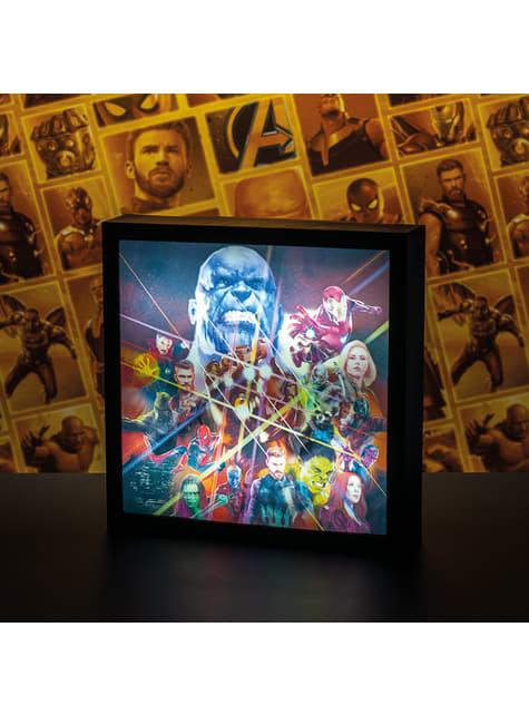 Cuadro retroiluminado de Los Vengadores: Infinity War