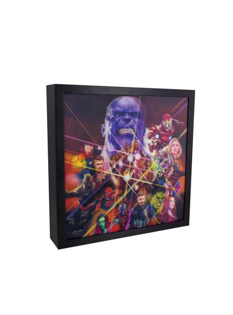 Cuadro retroiluminado de Los Vengadores: Infinity War - oficial