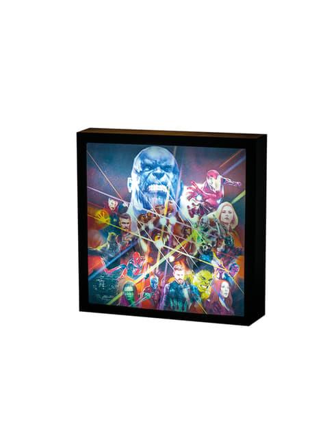 Cuadro retroiluminado de Los Vengadores: Infinity War - barato