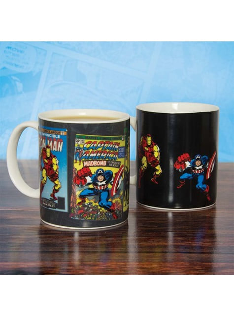 Marvel Comics colour-changing mug