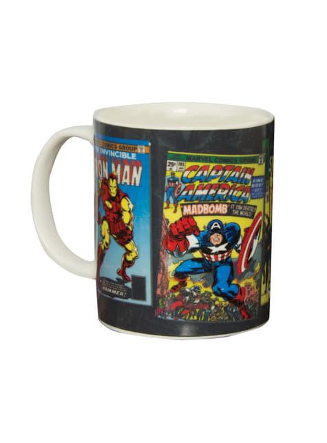 Taza de Marvel Comics cambia color