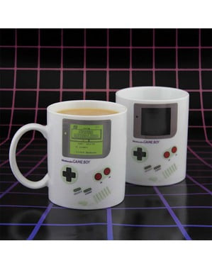 Gameboy colour-changing mug
