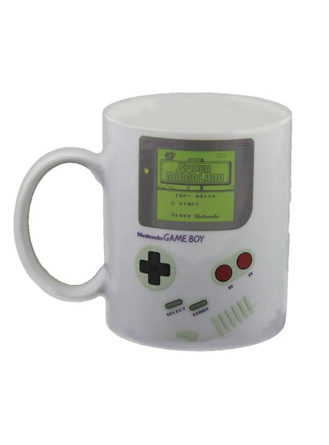 Gameboy colour-changing mug