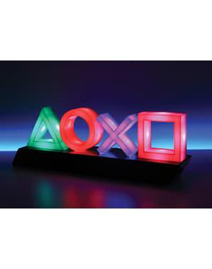 Playstation Knöpfe Nachttischlampe