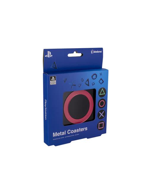 PlayStation metallic coasters